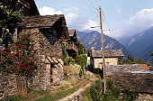 STONE HOUSES, GRISONS, SWITZERLAND