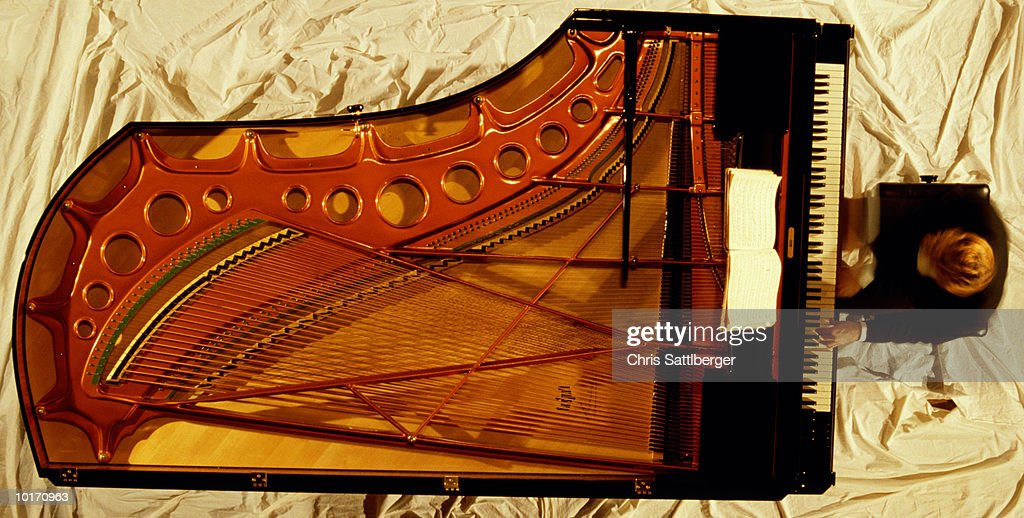CONCERT WITH GRAND PIANO, AUSTRIA : Stock Photo