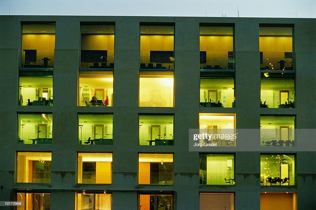 OFFICE BUILDING, EXTERIOR VIEW, BERLIN, GERMANY : Stock Photo