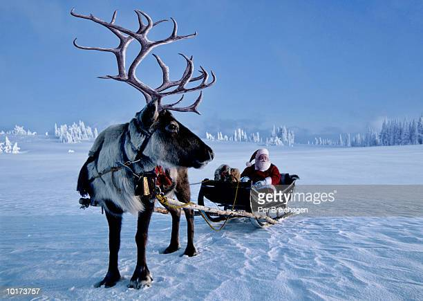 SANTA AND REINDEER, NORWAY