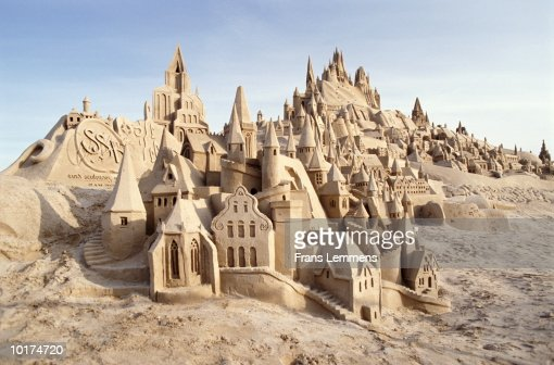 SANDCASTLE, SCHEVENINGEN, THE HAGUE, HOLLAND
