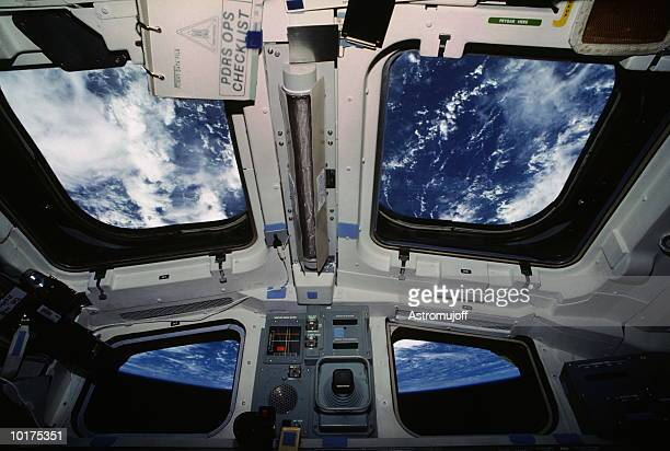 SPACE SHUTTLE'S AFT WINDOWS