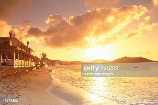 CARIBBEAN, ST MARTIN BEACH, GRAND CASE BAY