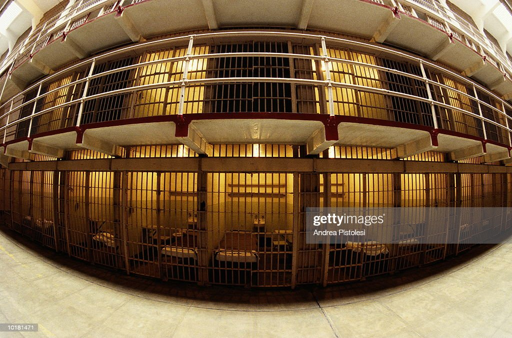 PRISON CELLS-ALCATRAZ SAN FRANCISCO CA USA : Stock Photo