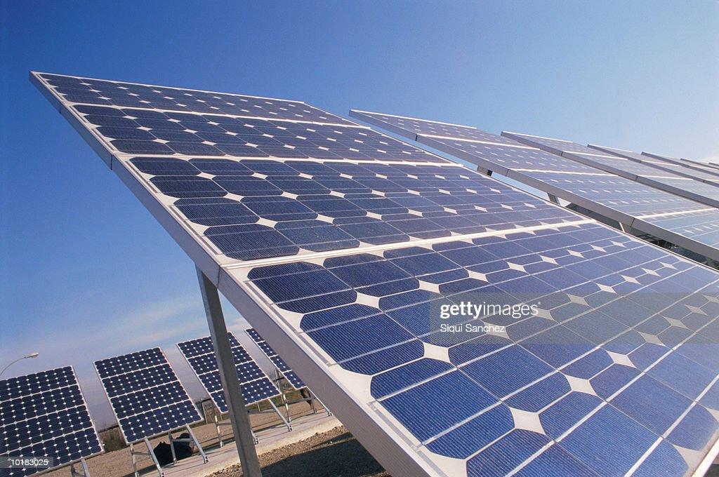 Solar panels in barcelona spain stock photo getty images - Solar barcelona ...