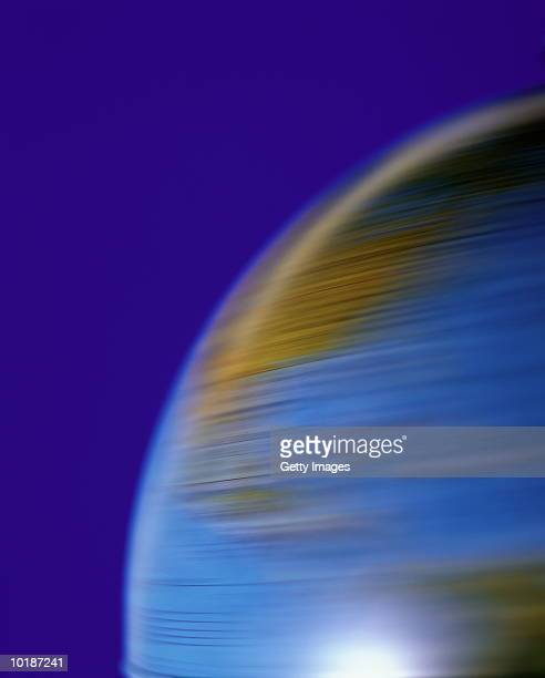 SPINNING GLOBE, CLOSE-UP