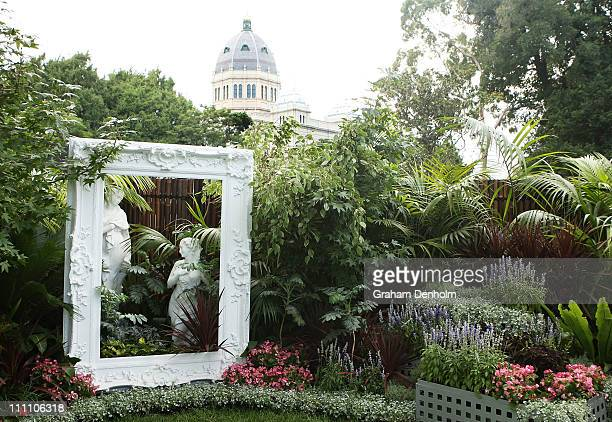 A garden exhibit is seen at the Melbourne International Flower and Garden Show at Carlton Gardens on March 30 2011 in Melbourne Australia The show is...