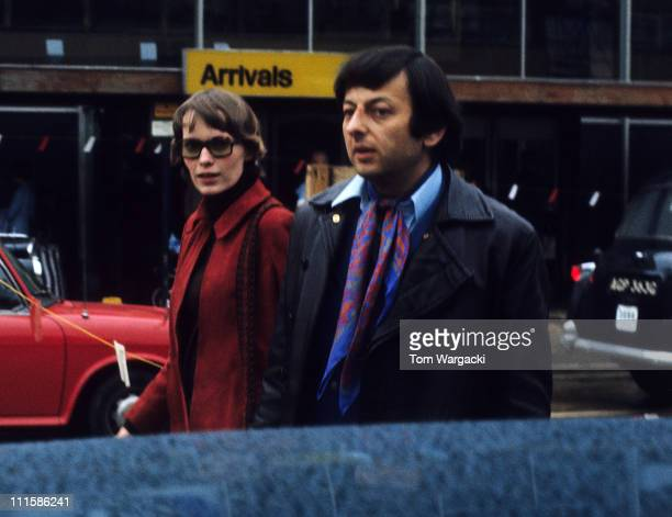 Mia Farrow and Andre Previn during Mia Farrow and Andre Previn sighting at Heathrow April 6 1970