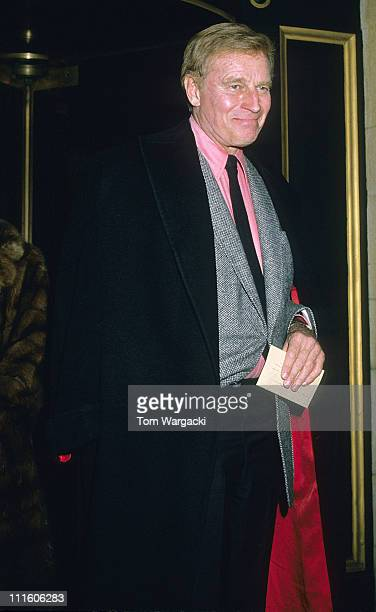Charlton Heston during Charlton Heston Sighting at The Dorchester Hotel in London February 26 1988