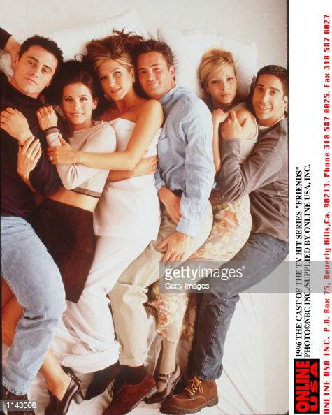 1996 THE CAST OF THE TV HIT SERIES 'FRIENDS'