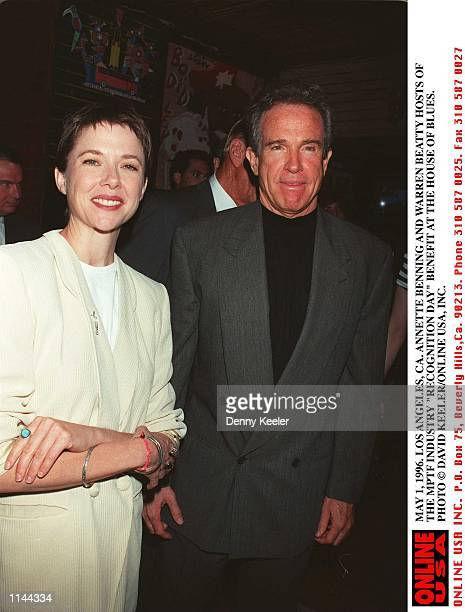 MAY 1 1996 LOS ANGELES CA ANNETTE BENING AND WARREN BEATTY HOST THE MOTION PICTURE TELEVISION FUND 'INDUSTRY RECOGNITION DAY' BENEFIT AT THE HOUSE OF...