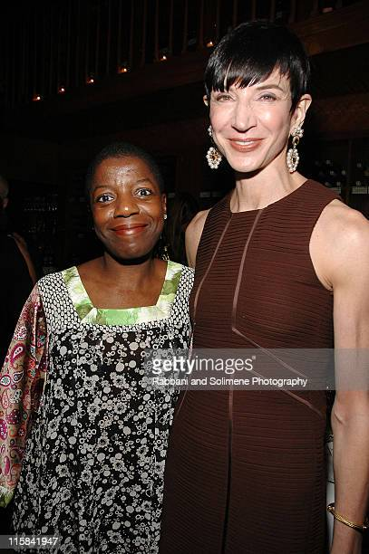 Thelma Golden and Amy Fine Collins during Vionnet Launch Party February 2 2007