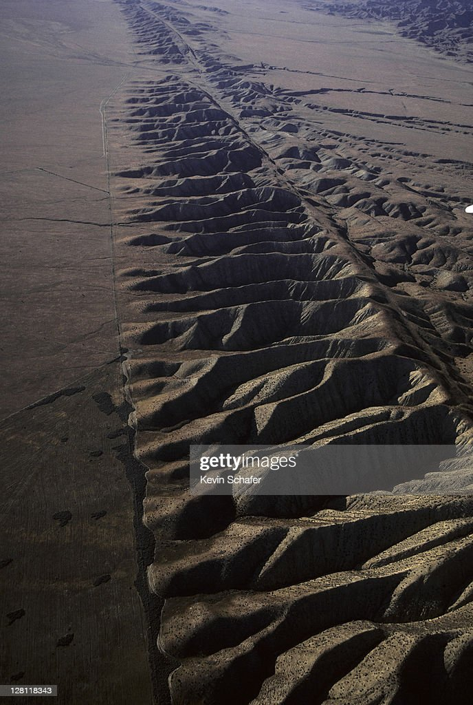 AERIAL OF SAN ANTONIO FAULT. CALIFORNIA : Stock Photo