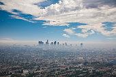 LOS ANGELES SKYLINE WITH SMOG