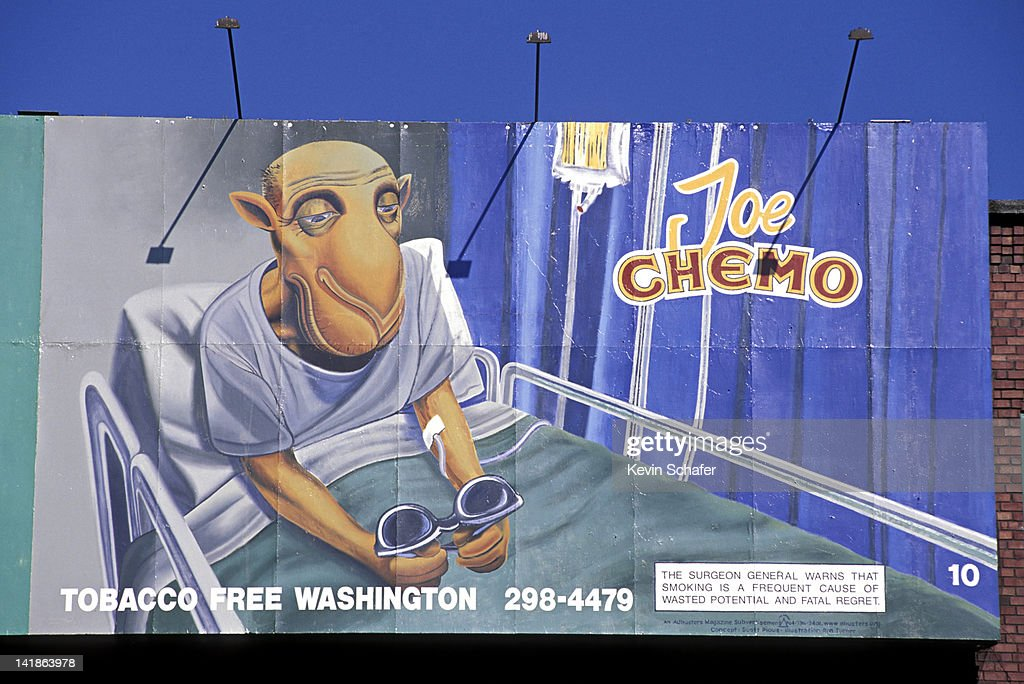 ANTI-SMOKING POSTER, JOE CHEMO. SEATTLE, WASHINGTON : Stock Photo