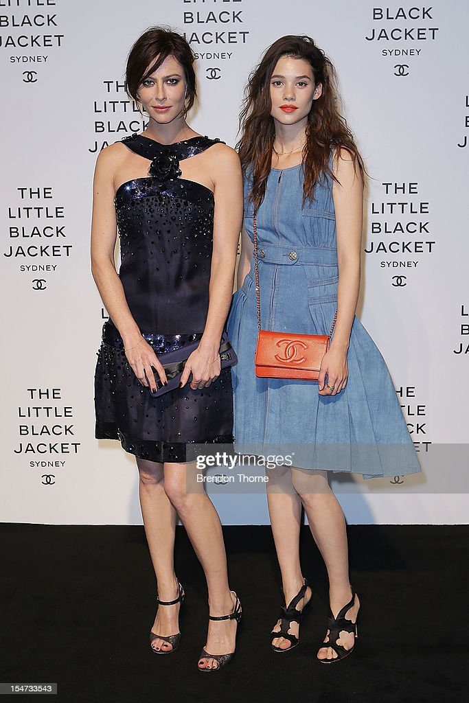 Anna Mouglalis and Astrid Berges-Frisbey attend the 'Chanel The Little Black Jacket' exhibition launch on October 25, 2012 in Sydney, Australia. The photographic exhibition is open to the public October 27 - November 11.