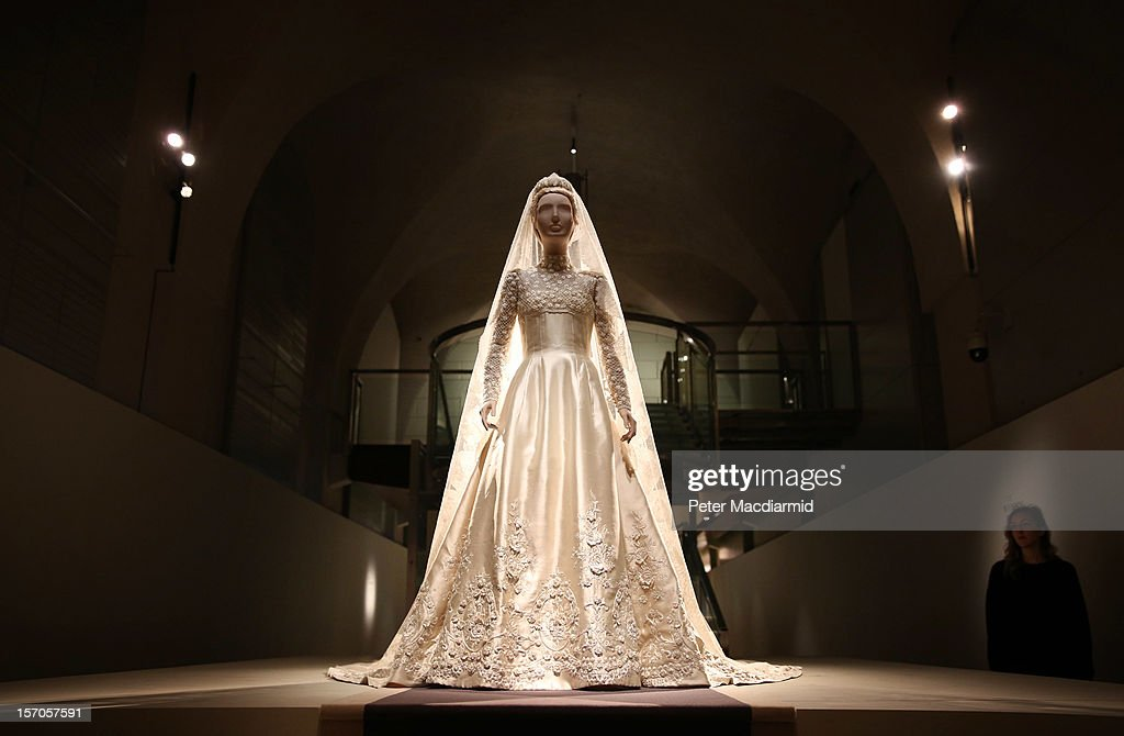 The wedding dress of Princess Marie-Chantal of Greece from 1995 is displayed at the 'Valentino: Master of Couture' exhibition at Somerset House on November 28, 2012 in London, United Kingdom. Celebrating the life and work of the Italian master couturier, the show features over 130 hand crafted designs worn by Hollywood icons and Royalty. The exhibition runs from November 29, 2012 - March 3, 2013.