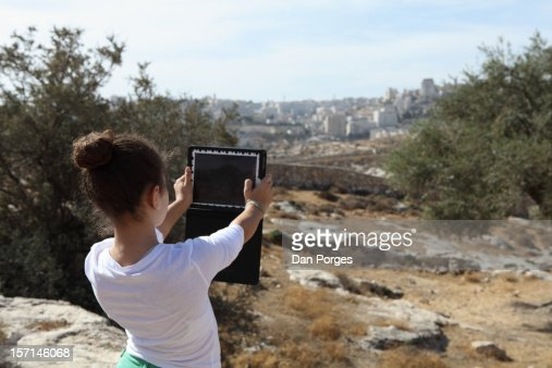 TOURIST IN THE HOLYLAND : Stock Photo