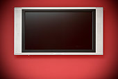 HD TV LCD (with screen and clipping path)