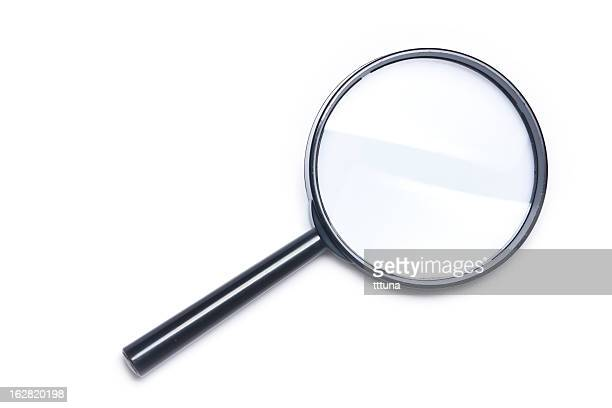 magnifying glass, cut out on white background