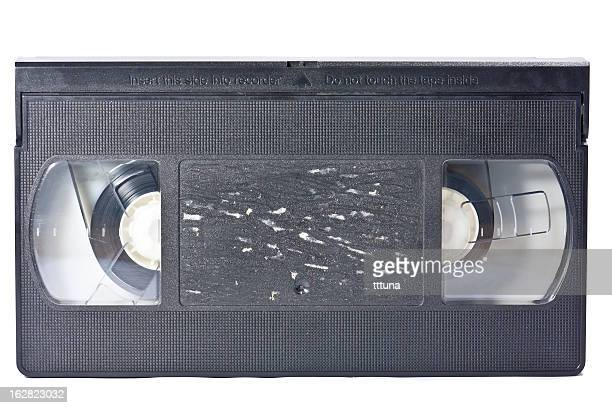 vintage video tape, cut out on white background
