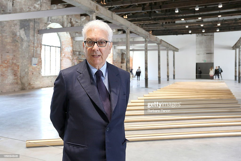 Biennale President, Paolo Baratta opens Corderie dell'Arsenale during the opening of The 55th International Art Exhibition on May 28, 2013 in Venice, Italy. The 55th International Art Exhibition of La Biennale Di Venezia will be open to the public from June 1- November 24, 2013.