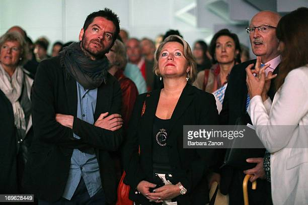 German politician Cornelia Pieper and the artist Anri Sala attends the opening of French and German Pavilions during the opening of The 55th...