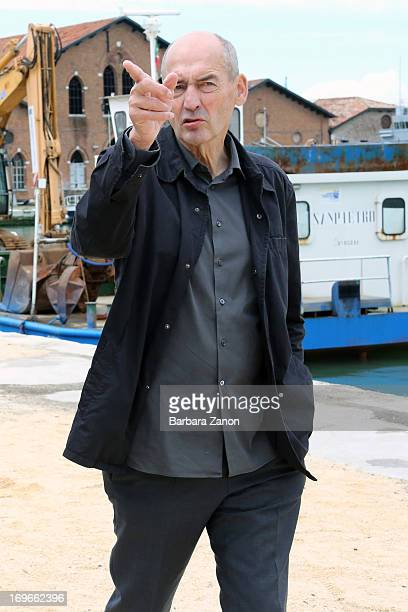 Architect and artist Rem Koolhaas attends the opening of The 55th International Art Exhibition at Arsenale on May 30 2013 in Venice Italy The 55th...