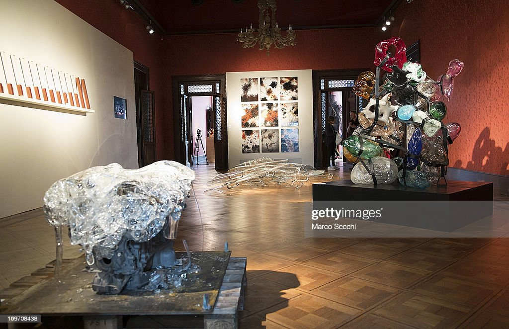 A general view of the exhibition 'Glasstress' a collateral event of the 55th International Art Exhibition, on May 31, 2013 in Venice, Italy. The 55th International Art Exhibition of La Biennale di Venezia will be open to the public from the June 1 - November 24, 2013.