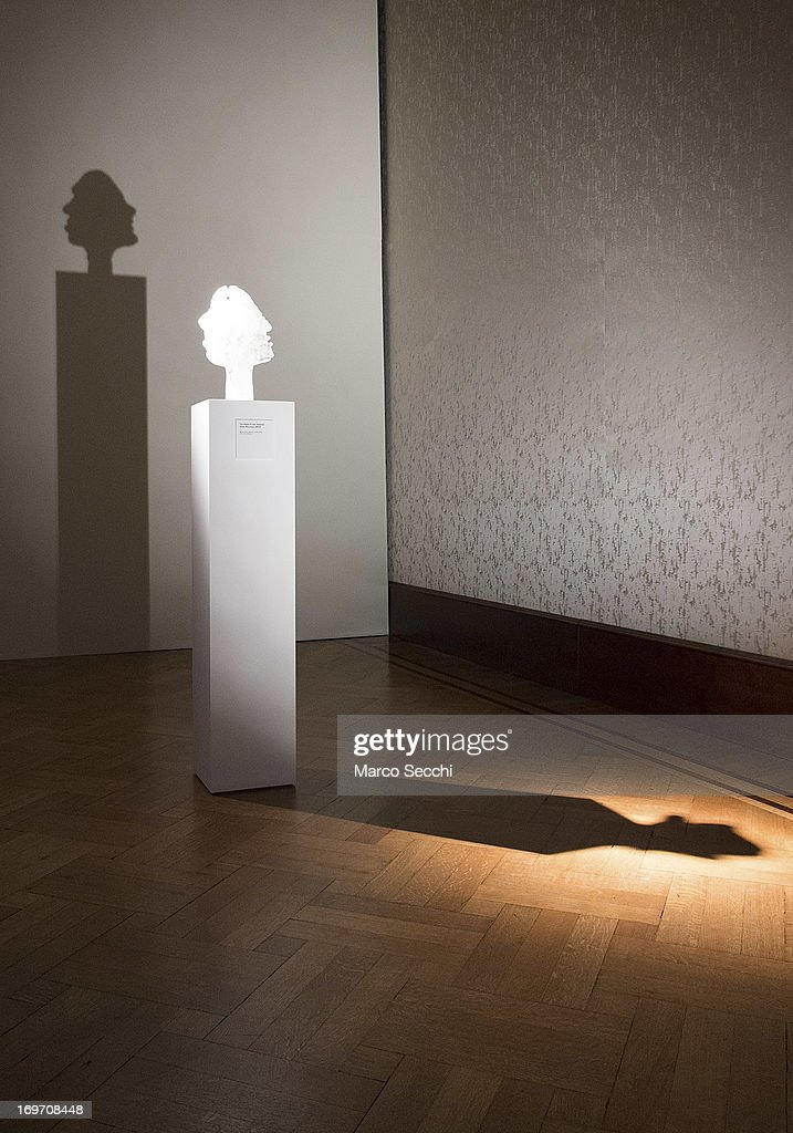 An art piece is displayed at the exhibit at 'Glasstress' a collateral event of the 55th International Art Exhibition, on May 31, 2013 in Venice, Italy. The 55th International Art Exhibition of La Biennale di Venezia will be open to the public from the June 1 - November 24, 2013.