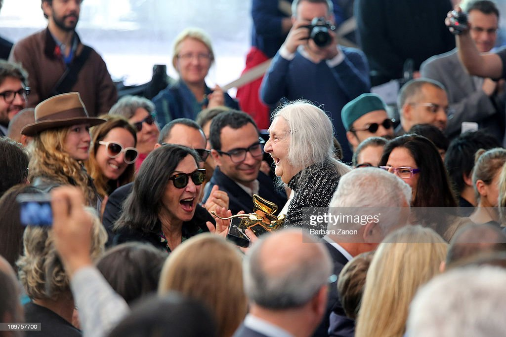 Italian artist Marisa Merz wins the Golden Lion Lifetime Achievement during The 55th International Art Exhibition at Giardini on June 1, 2013 in Venice, Italy. The 55th International Art Exhibition of La Biennale di Venezia will be open to the public from June 1 - November 24, 2013.