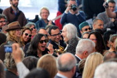 Italian artist Marisa Merz wins the Golden Lion Lifetime Achievement during The 55th International Art Exhibition at Giardini on June 1 2013 in...