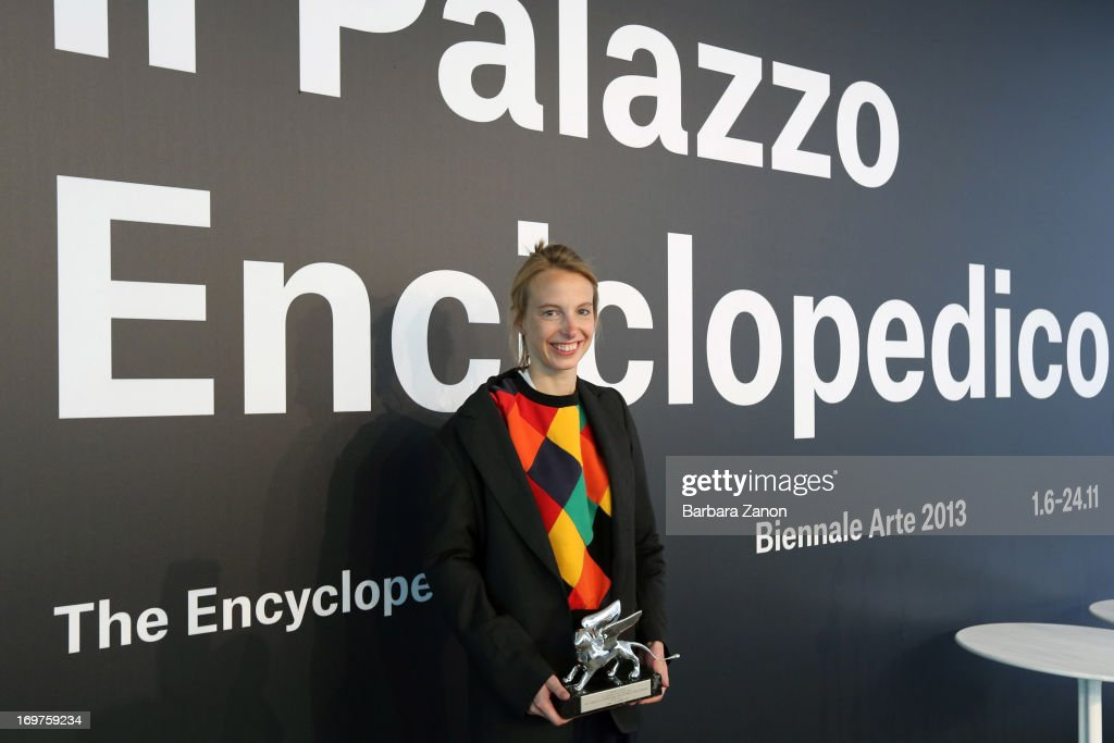 Camille Henrot wins the Silver Lion during The 55th International Art Exhibition at Giardini on June 1, 2013 in Venice, Italy. The 55th International Art Exhibition of La Biennale di Venezia will be open to the public from June 1 - November 24, 2013.