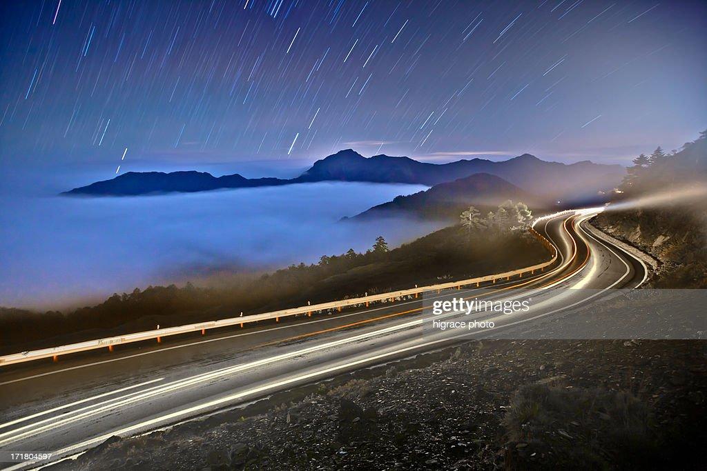 STAR RAIN ON ROAD : Stock Photo