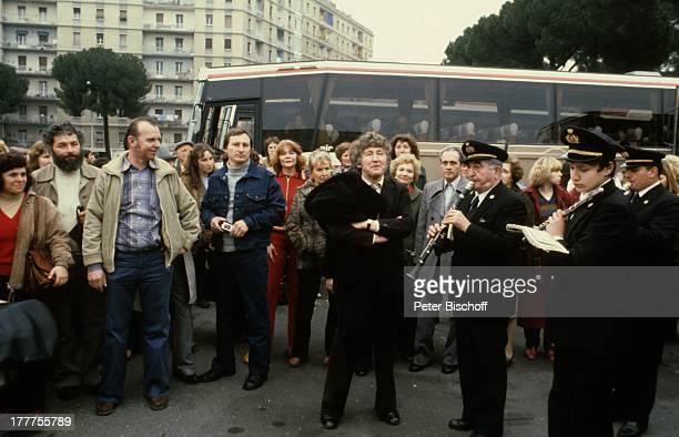 Gotthilf Fischer Empfang der FischerChöre Blaskapelle Rom Italien Europa Blasinstrument Trompete Saxofon Klarinette Chorleiter KF/TP
