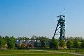 disused headframe of the former Zeche Osterfeld in Oberhausen, now park OLGA