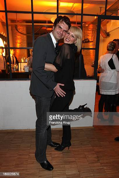 Anja Nejarri Und Andre Pollmann Beim 'Gala Style Club' Unter Dem Motto 'Where Fashion Meets Music' Im Elbdock In Hamburg