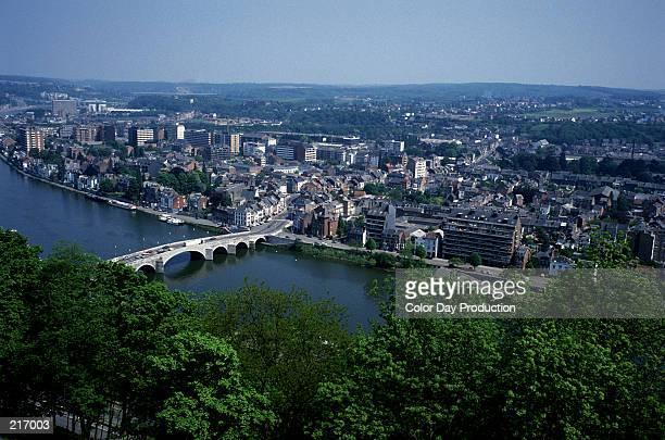 LA MEUSE RIVER & CITY OF NAMUR, BELGIUM