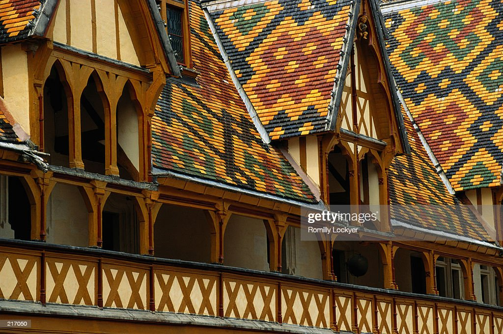 HOSPICES DE BEAUNE IN BURGUNDY, FRANCE : Stock Photo