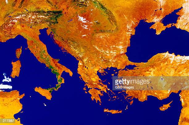 SATELLITE MAP OF SOUTHERN EUROPE