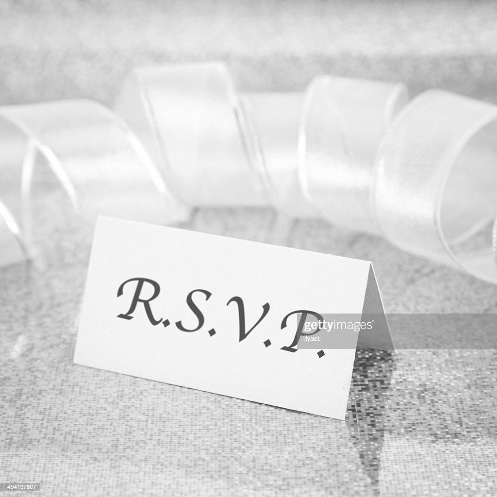 RSVP : Foto de stock