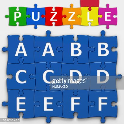 LETTERS PUZZLE (with clipping path) : Stock Photo
