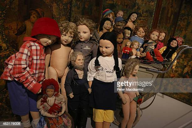 Dolls in the collection of Peter Blake are shown in the Magnificent Obsessions The Artist as Collector exhibition at the Barbican Art Gallery on...
