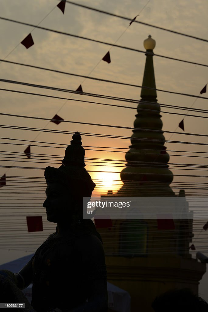 THAILAND BANGKOK WAT GOLDEN MOUNT : Stock Photo
