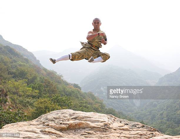 KUNG FU EXPERT ON SONG MT. HENAN CHINA.