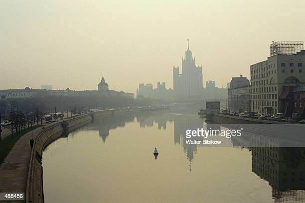 MORNING OVER MOSCOW RIVER IN MOSCOW