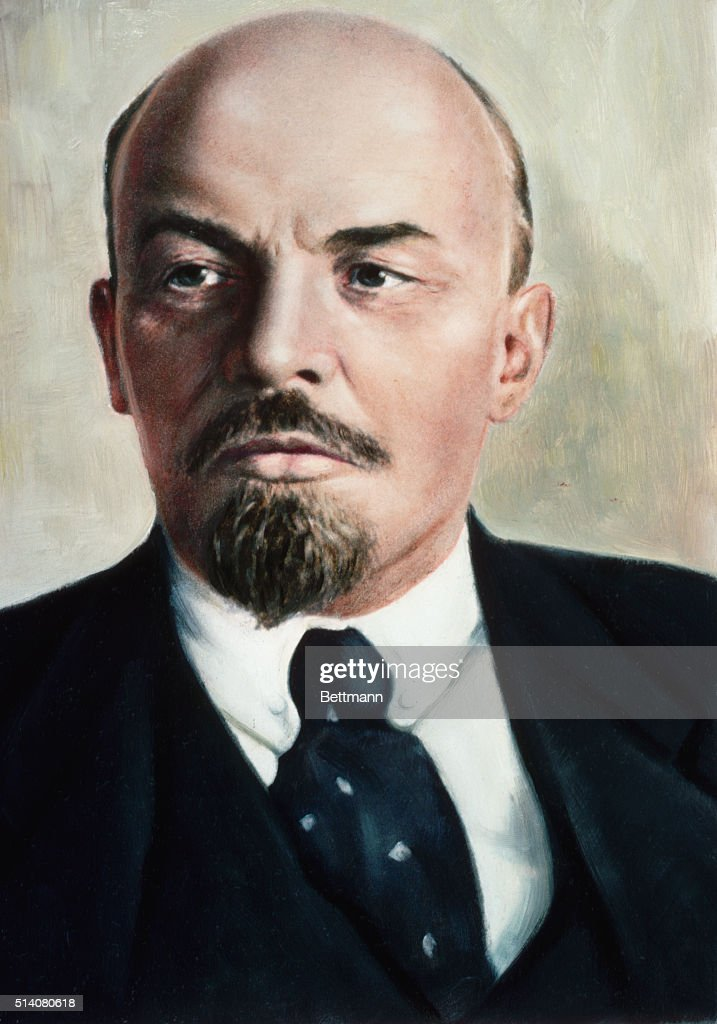 VLADIMIR ILYICH LENIN (1870-1924), RUSSIAN REVOLUTIONARY LEADER. UNDATED COLOR DUPE.