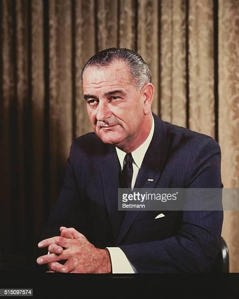 LYNDON B JOHNSON 1964 UPI COLOR SLIDE