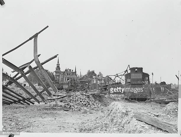 General View of Ruins of Railway Station in Aachen