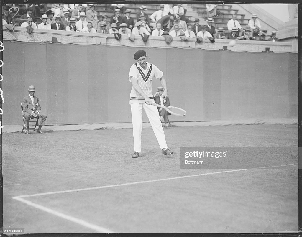 Tennis Player Jean Borotra During Davis Cup Match